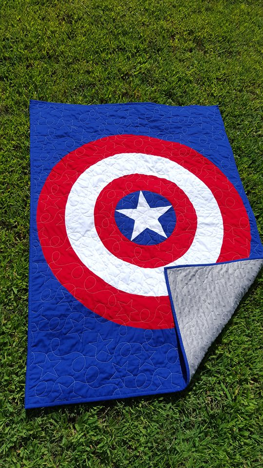 Captain America Quilt - Jaded Spade Creations