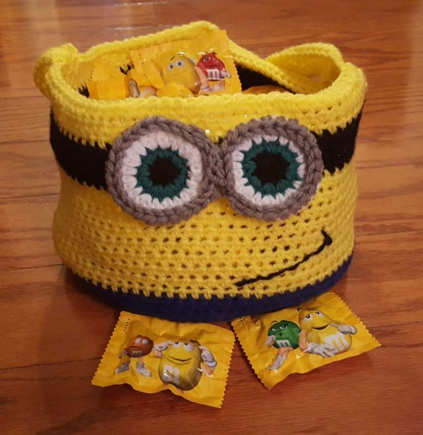 Crochet Minion-Inspired Basket Pattern