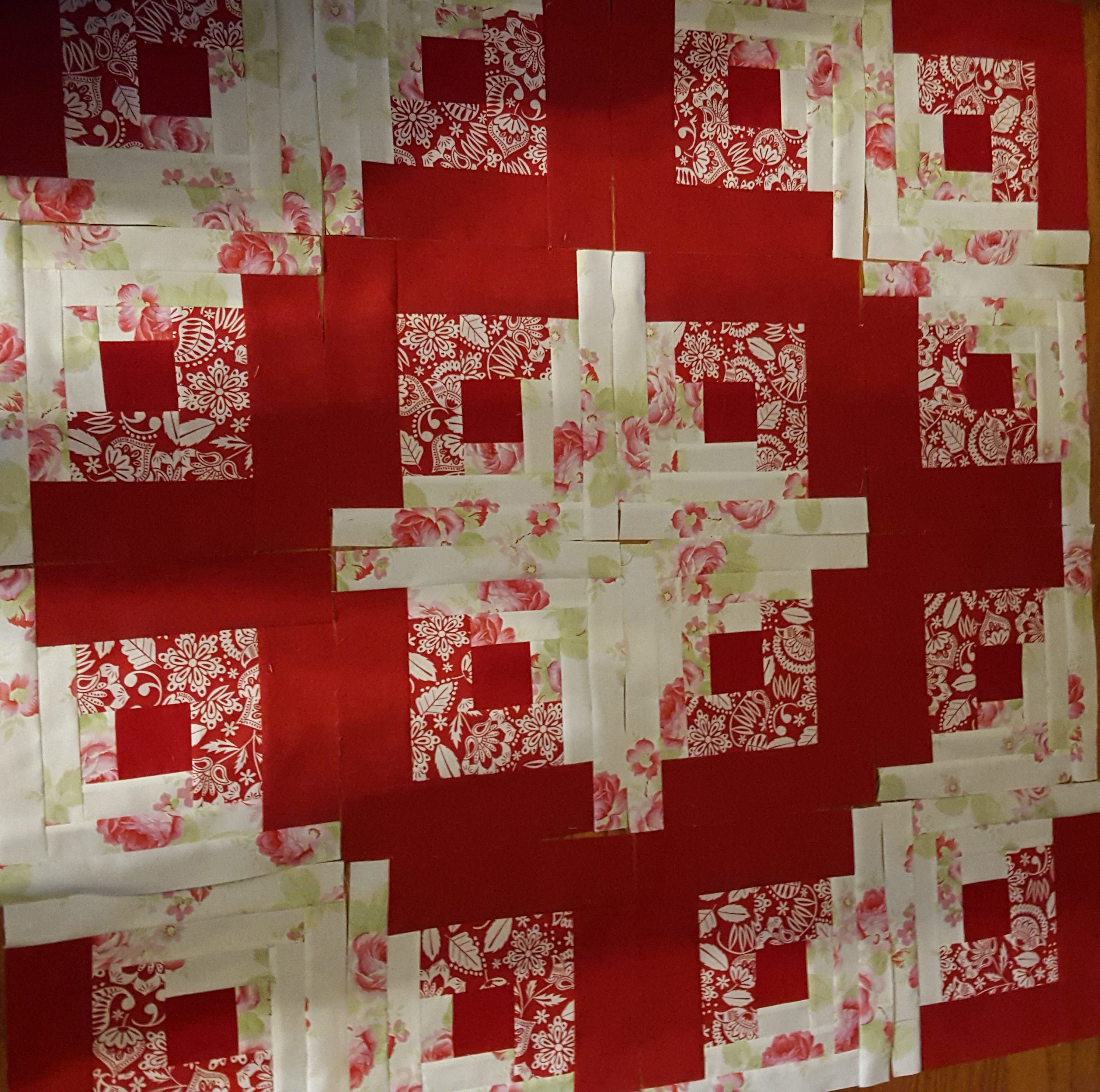 Curved Log Cabin Anniversary Quilt - Jaded Spade Creations