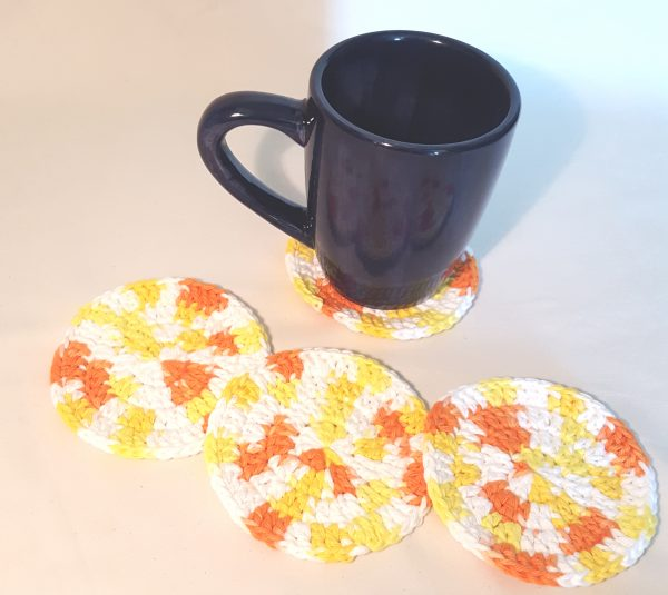Orange Cotton Drink Coasters