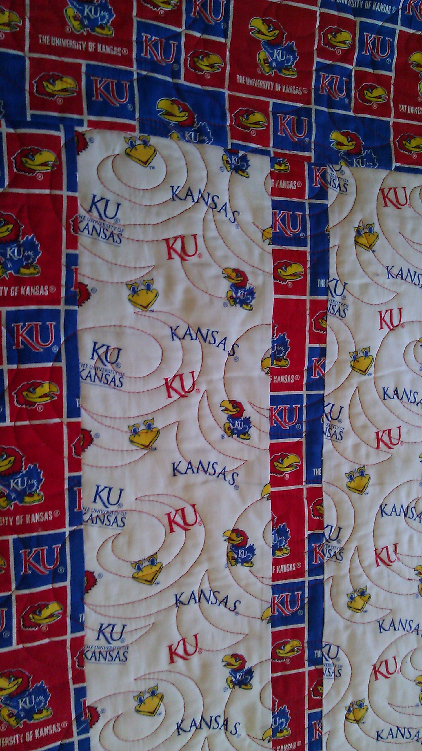 Kansas University Quilt - Jaded Spade Creations