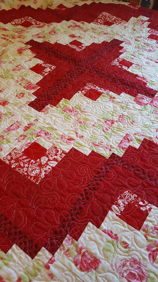Log Cabin Anniversary Quilt Finished