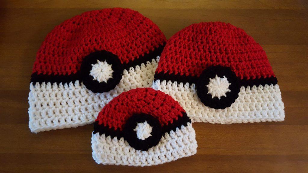 Pokemon Go Pokeball Hats