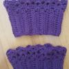 Purple Boot Cuffs