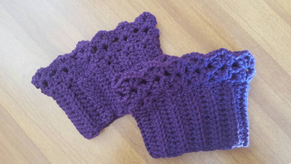 Purple Boot Cuffs