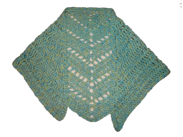 Aqua Summer Nights Shawl