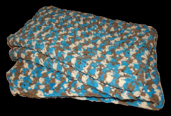 Super Chunky Camo Blanket Afghan