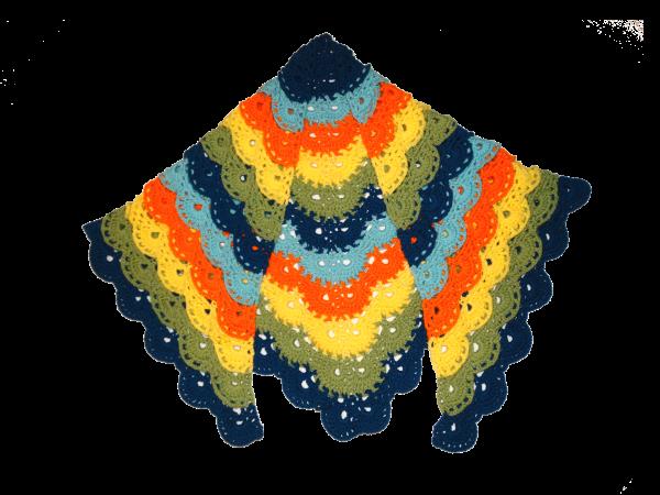 Peacock Meringue Shawl