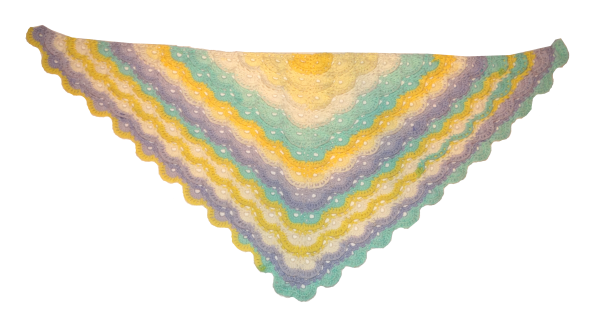 Pastel Meringue Shawl