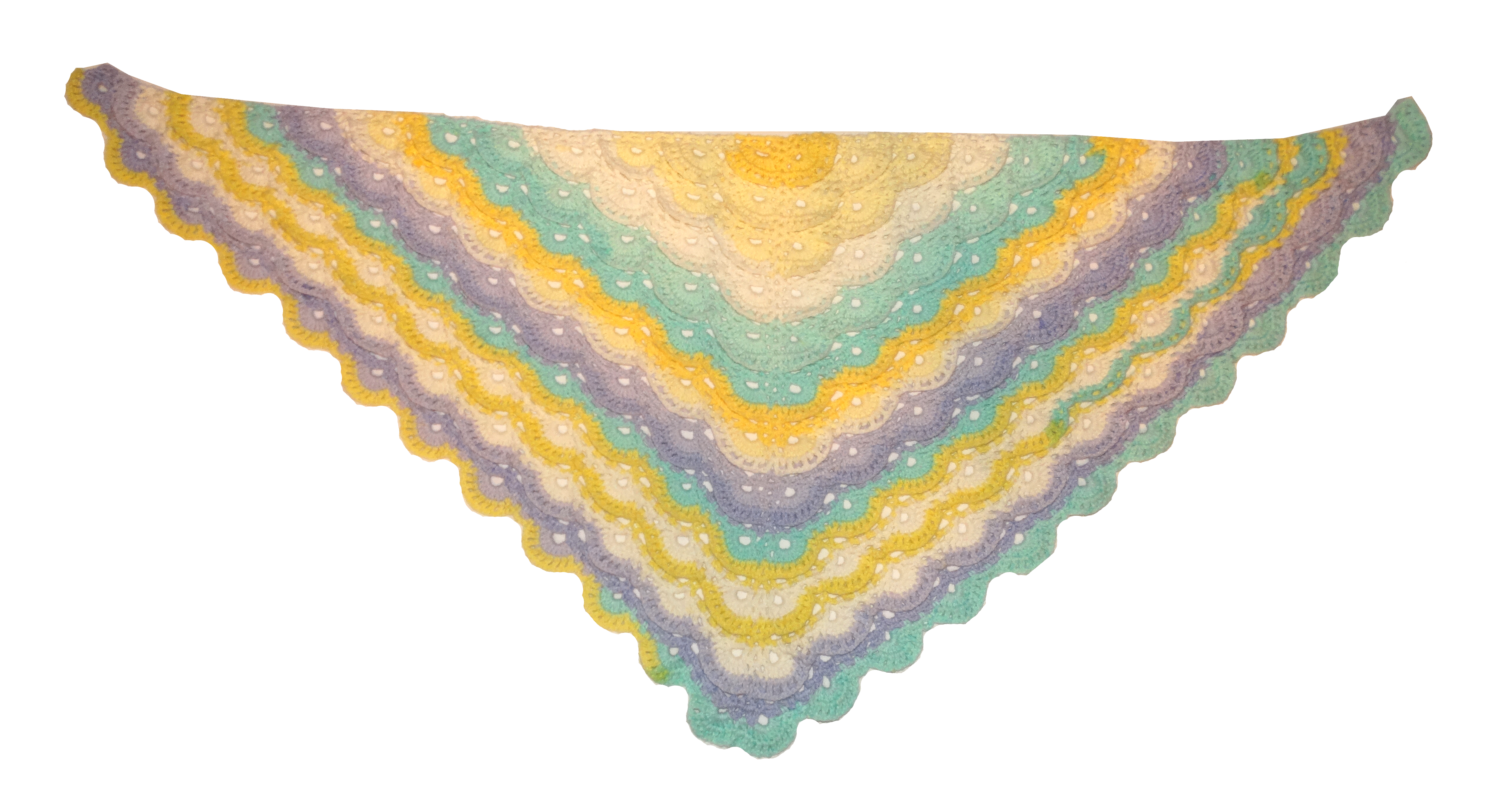 triangle pastel shawl