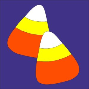 Candy Corn Applique Quilt Block Pattern