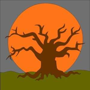 Haunted Tree Applique Quilt Block Pattern