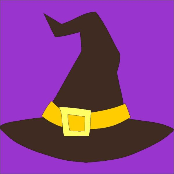 Witches Hat Applique Quilt Block Pattern