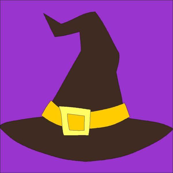 Witches Hat Applique Quilt Block Pattern