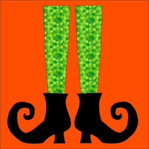Witches Shoes Applique Quilt Block Pattern