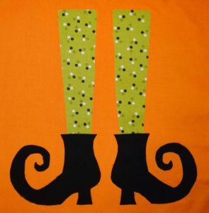 Witches Shoes Applique Quilt Block Pattern