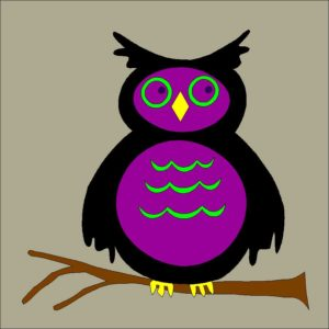Spooky Owl Applique Quilt Block Pattern