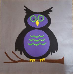Spooky Owl Applique Quilt Block Pattern