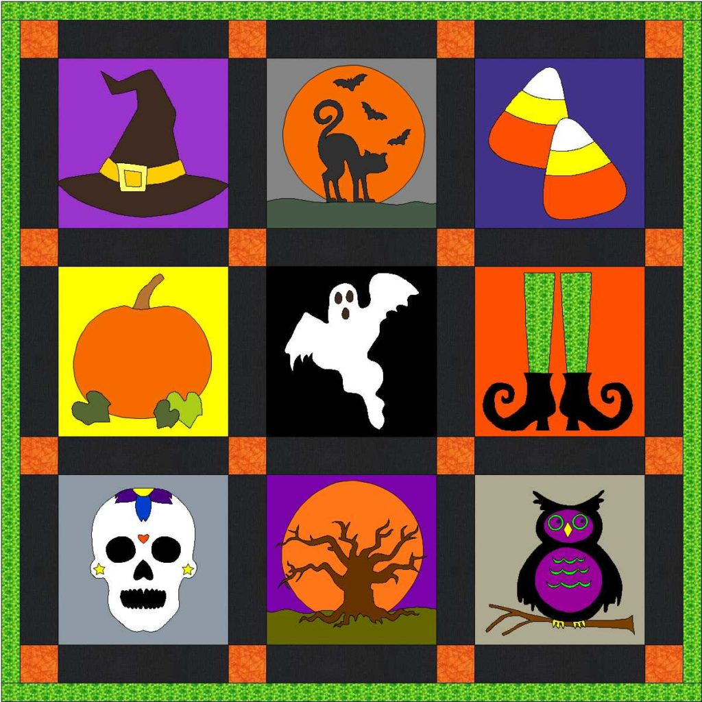 Halloween Quilt Blocks and Discount