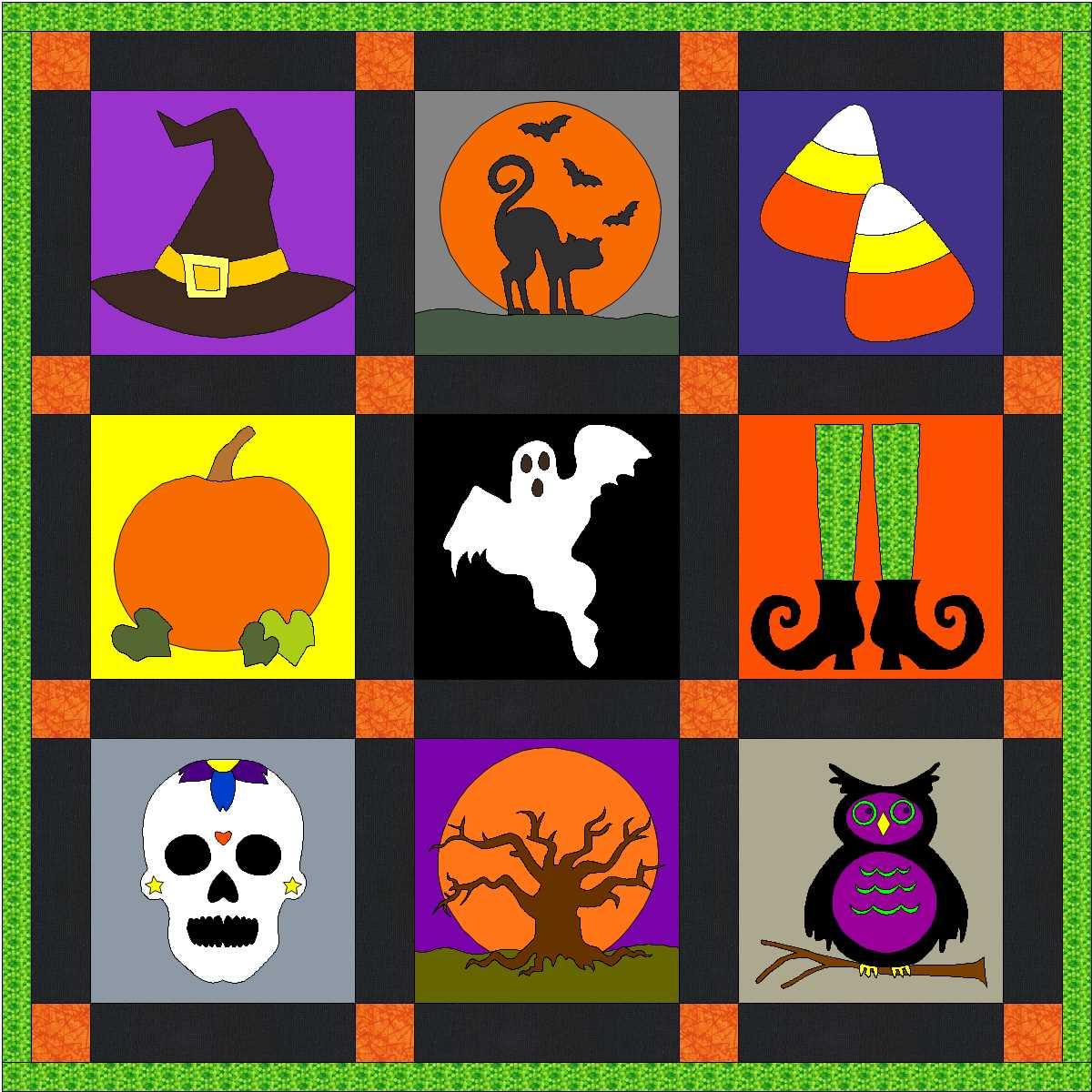 Halloween Quilt Blocks and Discount