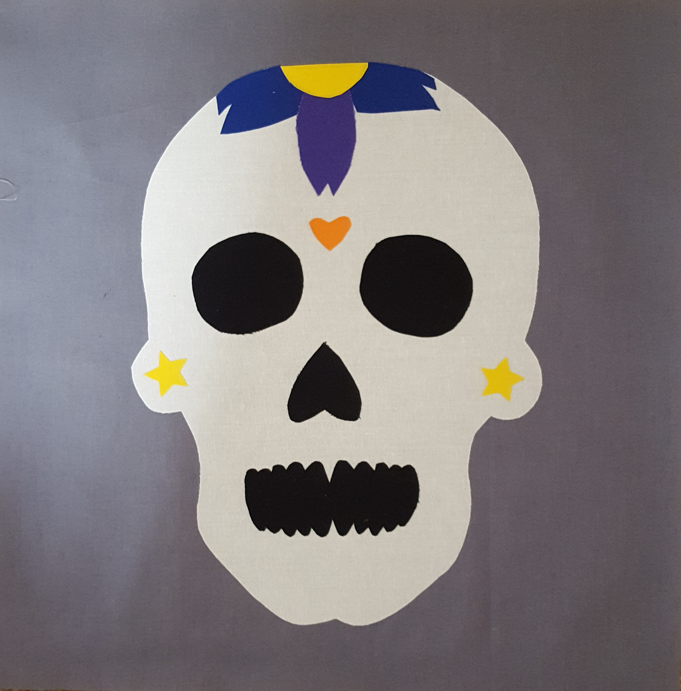 Candy Skull Applique Quilt Block Pattern