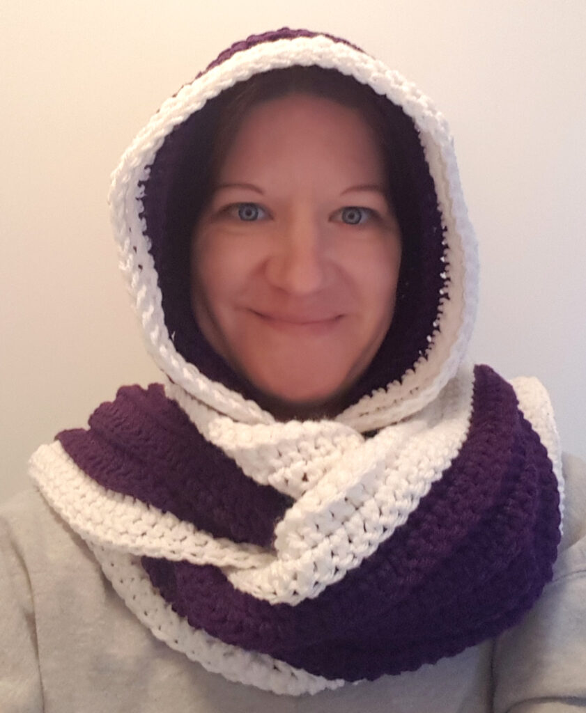 Ultra Violet Hooded Scarf