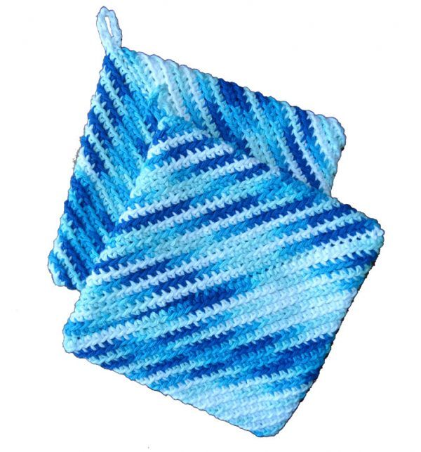 Hot Pad Pot Holders - Aqua