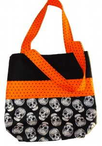 Skull Halloween Trick or Treat Bag