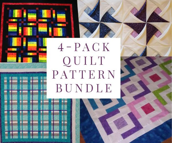 Best Seller 4-Pack Quilt Pattern Bundle
